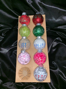 """Prayed for a baby, God gave an Angel"" Memorial Glass Christmas Ornament"