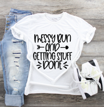 Load image into Gallery viewer, Funny Mom T-Shirts - Messy Bun