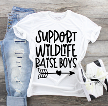 Load image into Gallery viewer, Funny Mom T-Shirts - Raise Boys
