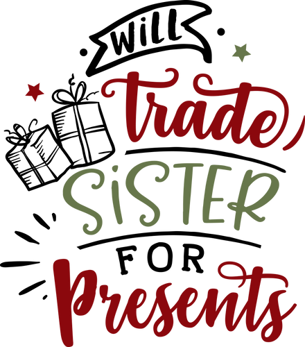 Funny Christmas T-shirt Youth, Trade Sister for Presents