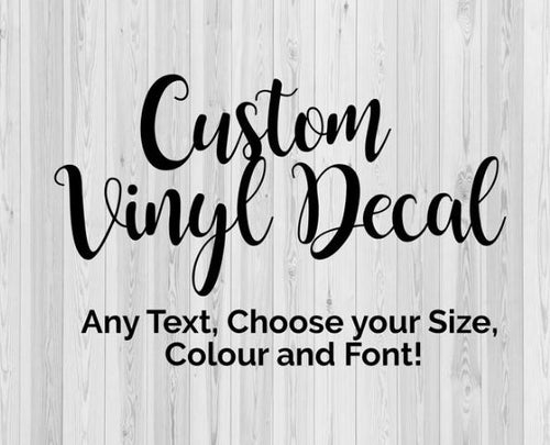 Custom Iron on Decals / Transfers - Easy Application