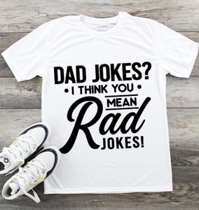 Fathers Day T-Shirt - Dad Rad jokes