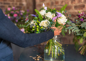 Floral design and styling | Independent West End Glasgow florist providing fresh, seasonal and natural flowers | hand tied wild beauty