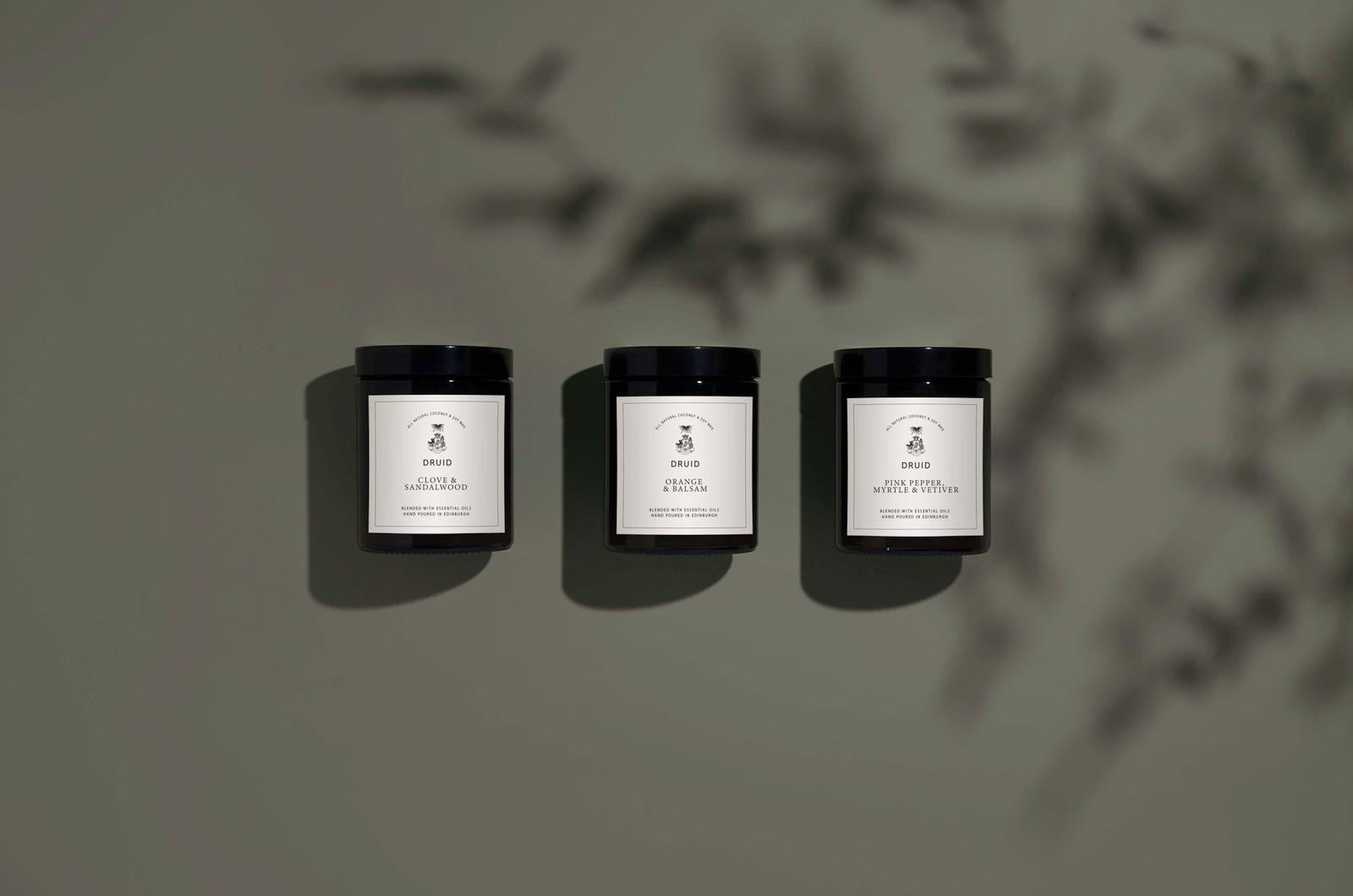 Druid Edinburgh Candles