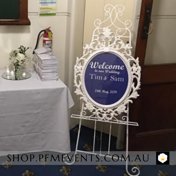 Custom Adhesive Message - Small Launch Event Melbourne Weddings