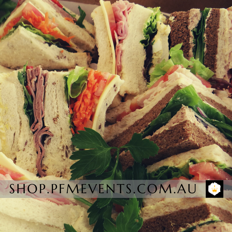 Popular Sandwiches Catering Platter Launch Event Melbourne Weddings