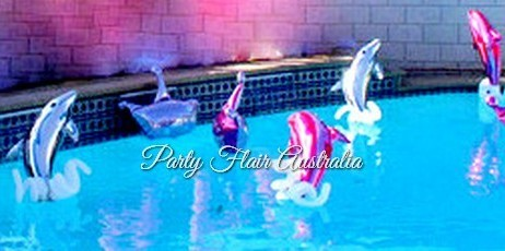 Large Jumping Dolphins Inflated Party Balloons Launch Event Melbourne Weddings