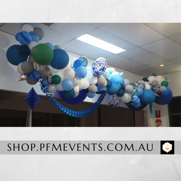 Modern Organic Balloon Garland Launch Event Melbourne Weddings