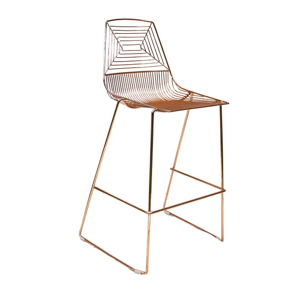 Rose Gold Geo Mesh Bar Stool Hire Launch Event Melbourne Weddings