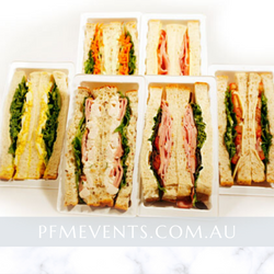 Gourmet Sandwiches Individually Wrapped Launch Event Melbourne Weddings
