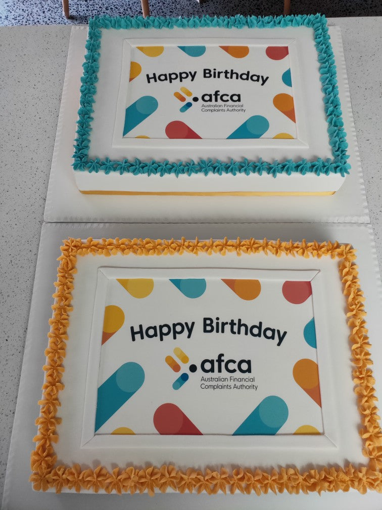 Handmade Custom Logo Cake Launch Event Melbourne Weddings