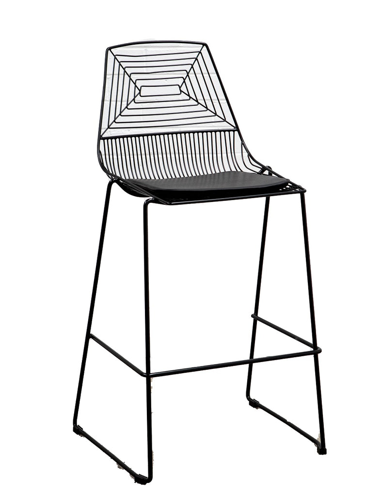 Black Geo Mesh Bar Stool Hire