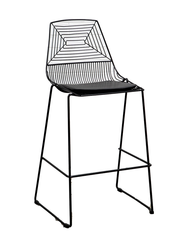 Black Geo Mesh Bar Stool Hire Launch Event Melbourne Weddings