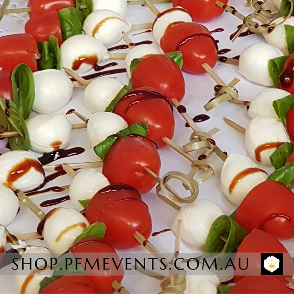 Cherry Tomato & Bocconcini Canapes - per 10 (gf, v) Launch Event Melbourne Weddings