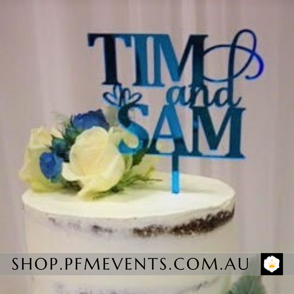 Custom Acrylic Cake Topper Launch Event Melbourne Weddings