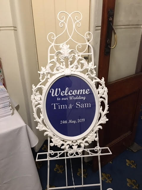 Ornate Custom Message Sign Hire Launch Event Melbourne Weddings