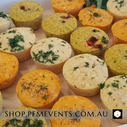 Assorted Frittata Bites Platter (gf) - Per 6 Launch Event Melbourne Weddings