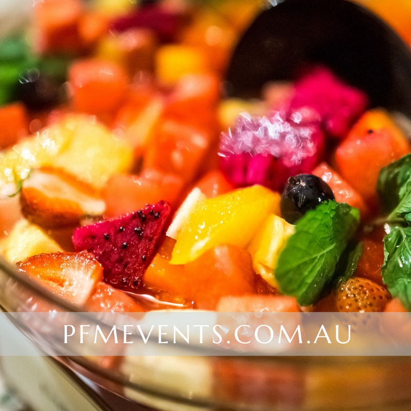 Fruit Salad Large Catering Bowl Launch Event Melbourne Weddings