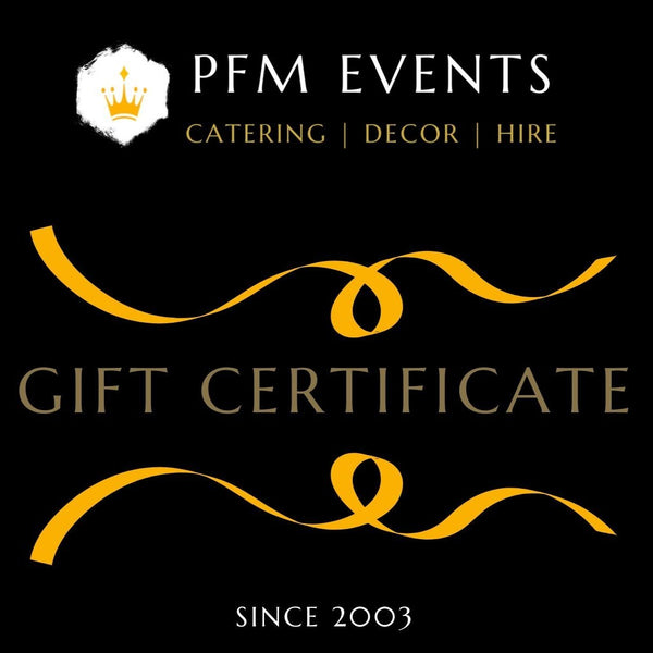 Gift Certificate - Catering & Events Launch Event Melbourne Weddings
