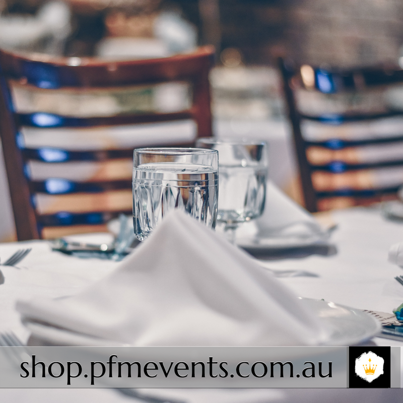 Linen Napkin Hire - White Launch Event Melbourne Weddings