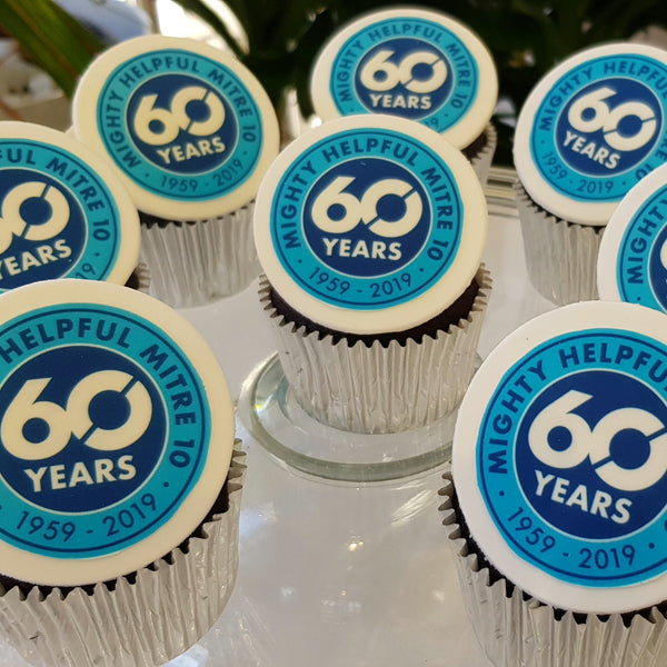 Custom Logo Cupcakes Launch Event Melbourne Weddings