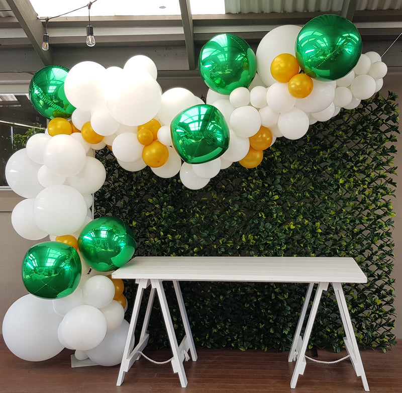 Customised Green Photo Wall/ Backdrop Launch Event Melbourne Weddings