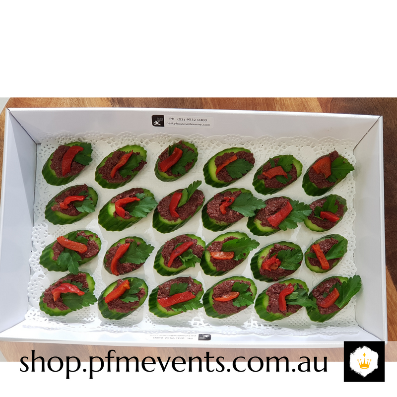 Vegan Olive and Cuke Canapes (vg, gf) Launch Event Melbourne Weddings