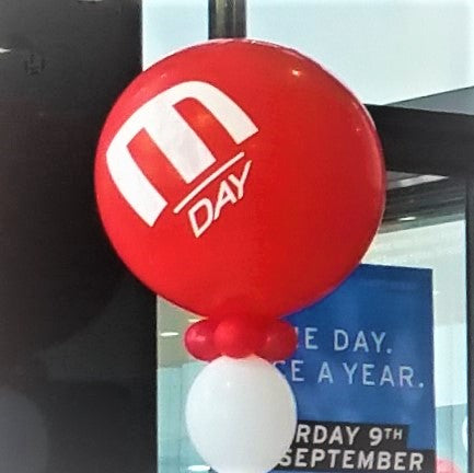 Inflation of 90cm Custom Printed Latex Balloons - Add-on pricing Launch Event Melbourne Weddings