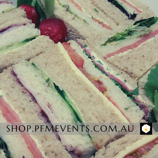 Ribbon Sandwiches Catering Platter Launch Event Melbourne Weddings