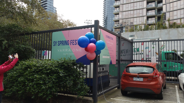 Modern Organic Balloon Signage Feature Launch Event Melbourne Weddings