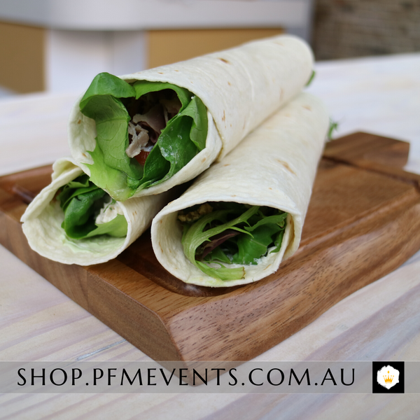 Tortilla Wrap Individually Wrapped Launch Event Melbourne Weddings