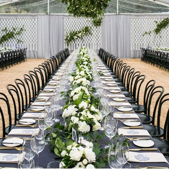 Walnut Timber Bentwood Chair Hire Launch Event Melbourne Weddings