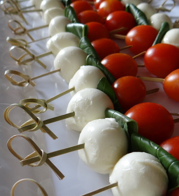 Cherry Tomato And Bocconcini Canapes (Med, gf, v) Launch Event Melbourne Weddings