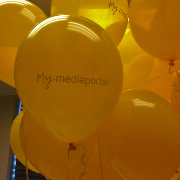 Custom Printed Balloon & Champagne Gift Launch Event Melbourne Weddings