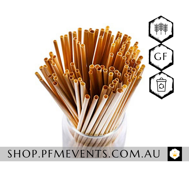 Eco-Friendly Wheat Cocktail Straws (Non-Soggy) Launch Event Melbourne Weddings