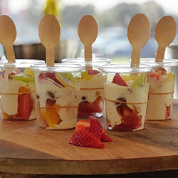 Fruit and Coconut Yogurt Cup (vg) Launch Event Melbourne Weddings