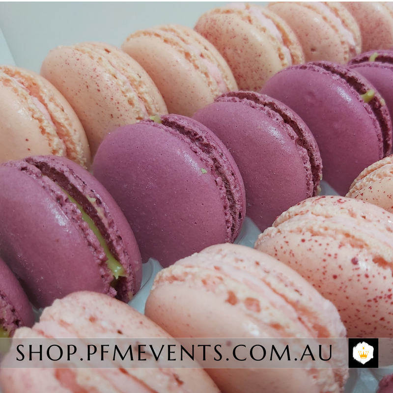 Gourmet Macarons Platter (gf) Launch Event Melbourne Weddings