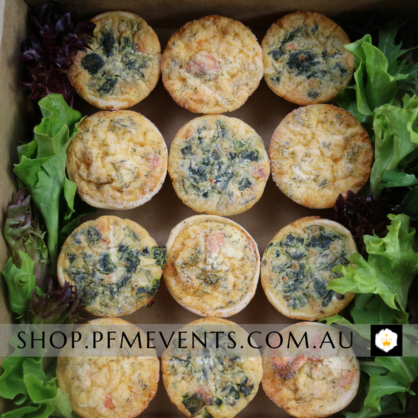 Quiche Tartlets Catering Platter Launch Event Melbourne Weddings