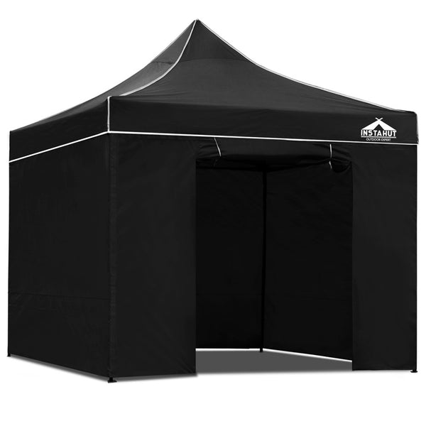 Pop up Black Marquee Hire Package Launch Event Melbourne Weddings