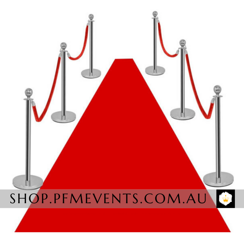 Silver Bollards - Hire Launch Event Melbourne Weddings