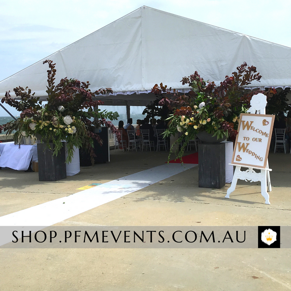 White Clear Marquee Hire Package Launch Event Melbourne Weddings