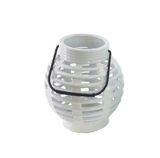 Set of 6 White Ceramic Candle Lanterns - Hire Launch Event Melbourne Weddings
