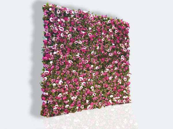 Pink & Green Flower Wall (Hire)