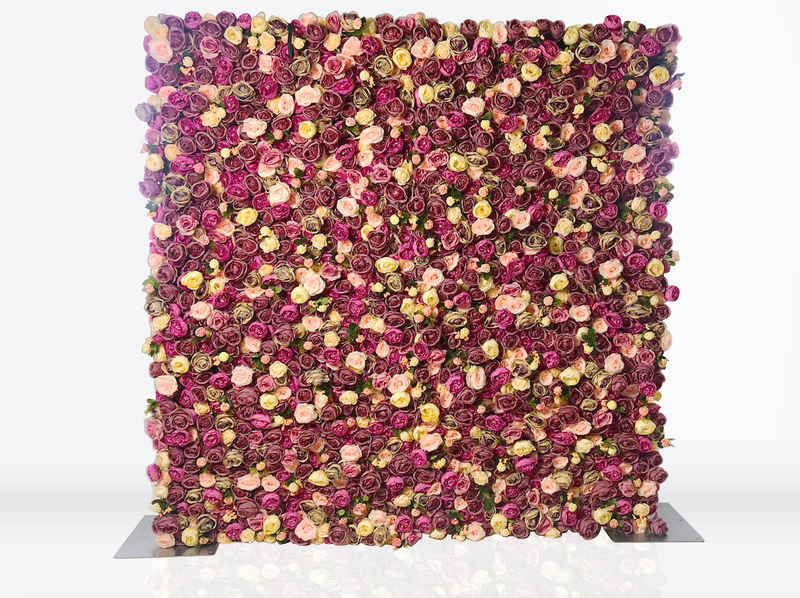 Pink & Purple Flower Wall (Hire)