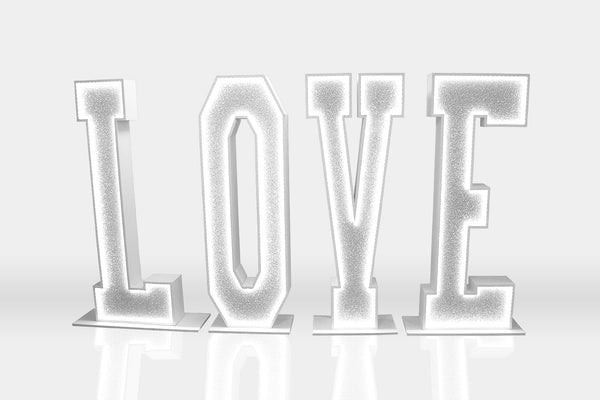 6ft Glitter Light Up 'LOVE' (Hire)