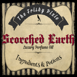 SCORCHED EARTH Luxury Perfume Oil- Brown Sugar, Sandalwood, Ginger, Black Tea, Neroli, Spice
