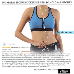 AiRunTech Running Belt, Bum Bag Lightweight Running Pouch Elastic Neoprene Waist Packs
