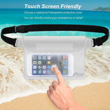 AiRunTech Waterproof Pouch with Waist Strap (2 Pack)