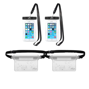 Waterproof Cell Phone Bag, 4 Pack AiRunTech Waterproof Dry Bag