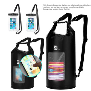 AiRunTech Waterproof Dry Bag, 10L + 20L
